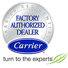 Central Cooling is a Carrier Factory Authorized Dealer