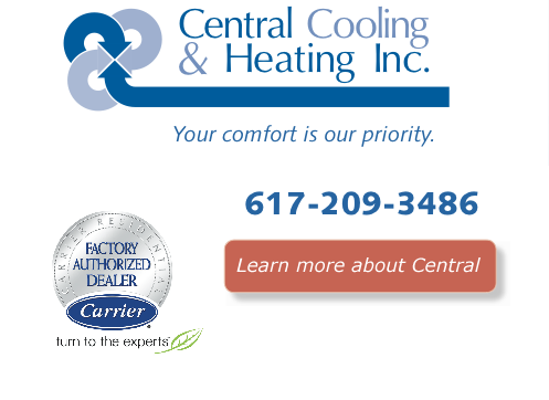 Call Central Cooling and Heating for all of your HVAC needs, 781-933-8288